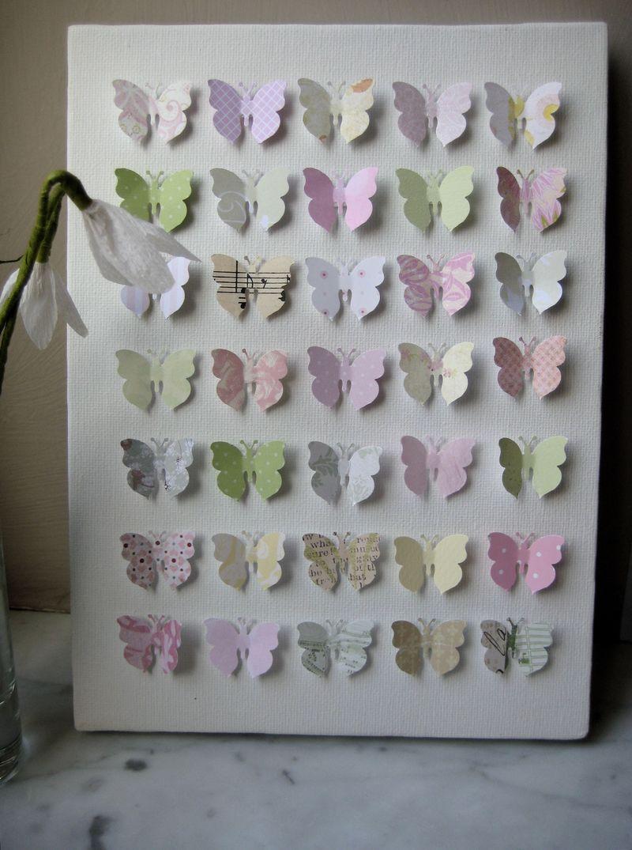 Butterflies pink yellow green 1